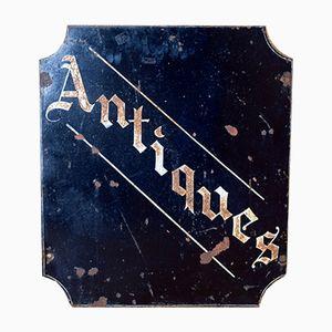 Panneau de Magasin d'Antiquités Suspendu Double Face Vintage