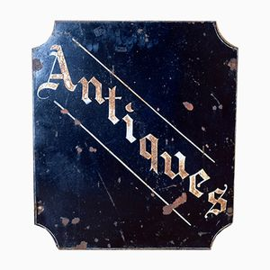 Vintage Double Sided Hanging Antiques Shop Sign