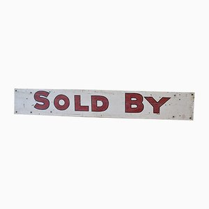 Handbemaltes Vintage Immobilien Verkauft-Schild, 1960er