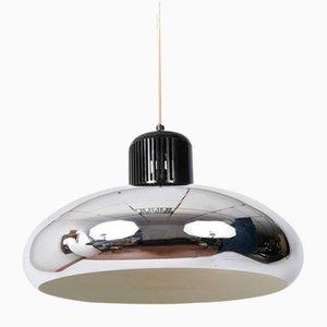 Italian Quarter Bell Chrome Pendant Lamp from Stilnovo, 1960s