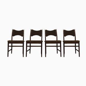 Chaises de Salon Mid-Century en Teck de Everest, Set de 4