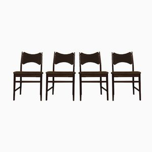 Mid-Century Teak Dining Chairs from Everest, Set of 4