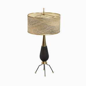 Lámpara de mesa con base de cerámica, años 60