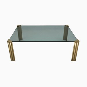 Dutch Brass & Glass Coffee Table, 1980s