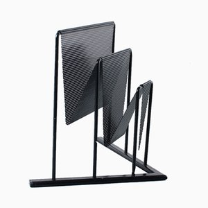 Vintage Perforated Metal Magazine Holder by Tjerk Reijenga for Pilastro