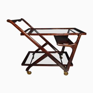 Vintage Italian Serving Cart by Cesare Lacca, 1950s
