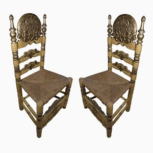 Antique Spanish Baroque Wooden Chairs from Ars Populis, Set of 2