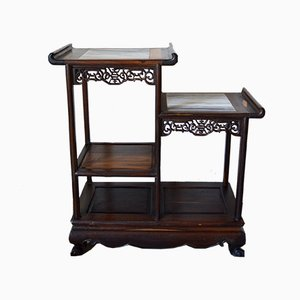 Indochinese Carved Wood Asymmetrical Shelves, 1930s