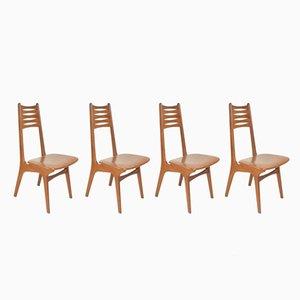 Dänische Vintage Modell Nr. 83 Esszimmerstühle aus Teak von Kai Kristiansen für Boltinge Stolefabrik, 4er Set