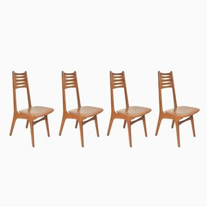 Vintage Danish Teak Model No. 83 Dining Chairs by Kai Kristiansen for Boltinge Stolefabrik, Set of 4