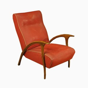 Italian Red Nylon Armchair, 1960s