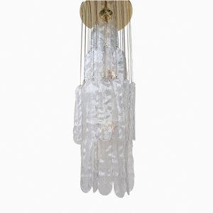 Vintage Modern Murano Glass Leaf Chandelier