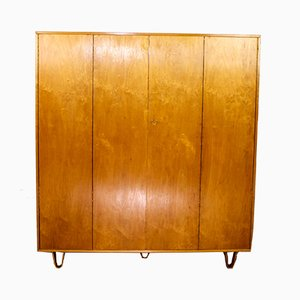 Vintage KB04 Kleiderschrank aus Birke von Cees Braakman für Pastoe, 1950er