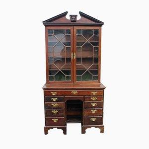 Georgianischer Schreibtisch aus Mahagoni mit Knieloch & verglastem Astragal, 1780er