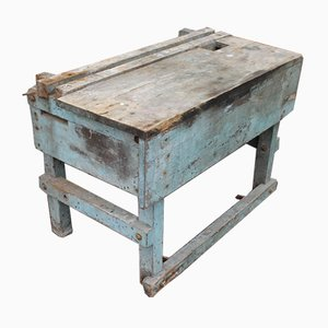 Industrial Painted Work Bench, 1900s