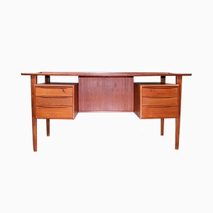Mid-Century Teak Desk by Peter Løvig Nielsen for Løvig, 1960s