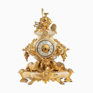 Napoleon III Uhr aus Bronze & Onyx von Eugene Cornu, 1880er