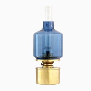 L47 Öllampe aus Messing & blauem Glas von Hans Agne Jakobsson, 1960er
