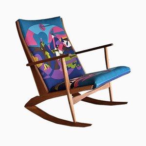 Rocking Chair Coloré Mid-Century par Holger Georg Jensen pour Tønder Møbelværk