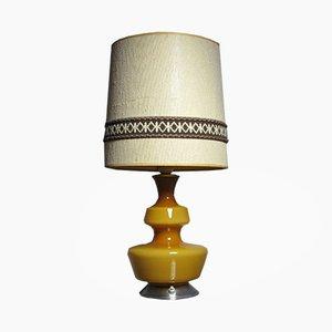 Lampe de Bureau Mid-Century en Verre Jaune par Holmegaard, 1960s