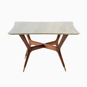 Table Basse Mid-Century avec Plateau en Marbre, Italie, 1950s