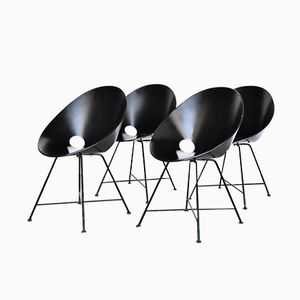 S664 Side Chairs by Eddie Harlis for Thonet, 1980s, Set of 4