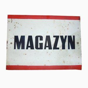 Cartel Magazyn industrial, años 70
