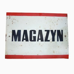 Industrial Magazyn Sign, 1970s
