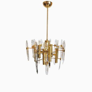 9-Light Chandelier by Gaetano Sciolari, 1960s