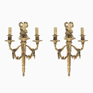 Antique Wall Lamps by E. Mottheau, 1870s, Set of 2
