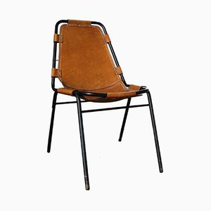 Vintage Tubular Les Arcs Dining Chair by Charlotte Perriand