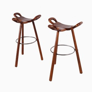 Spanish Marbella Bar Stools, 1960s, Set of 2