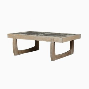 White Oak and Tiled Coffee Table by Ox-Art, 1976