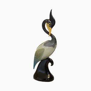 Vintage Murano Glass Exotic Bird Sculpture from Formia