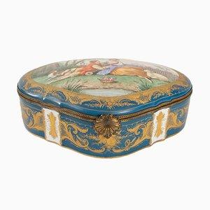 Scatola in porcellana di Vincennes, XIX secolo