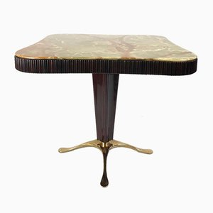 Vintage Occasional Table with Onyx Top by Paolo Buffa
