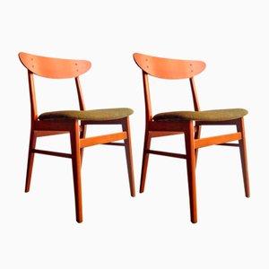 Chaises de Salon en Teck de Farstrup Møbler, 1960s, Set de 2, Danemark