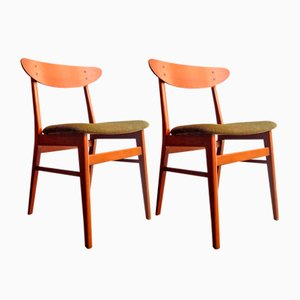Danish Teak Dining Chairs from Farstrup Møbler, 1960s, Set of 2