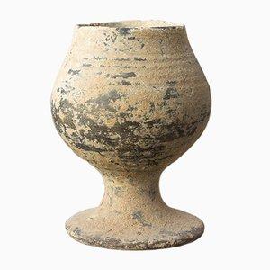 Antiker griechischer-zypriotischer Kelch aus schwarzer Keramik aus der Bronzezeit