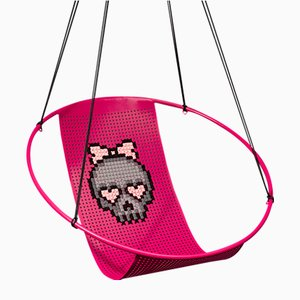 Cross Stitch Hanging Swing Chair from Studio Stirling