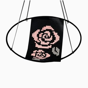 Cross Stitch Embroidery Hanging Swing Chair from Studio Stirling