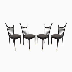 Esszimmerstühle aus Mahagoni von Paolo Buffa, 1950er, 4er Set