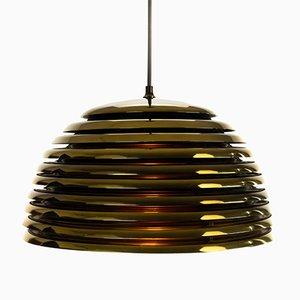 Goldene deutsche Saturnlampe von Kazuo Motozawa für Staff, 1970er