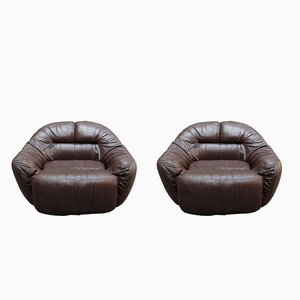 Leather Armchairs by Crippa Sergio, 1970s, Set of 2
