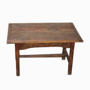 Vintage Solid Oak Farmhouse Table with Drawer