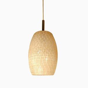 Lanterne à Suspension Vintage en Verre Texturé Blanc de Lunel