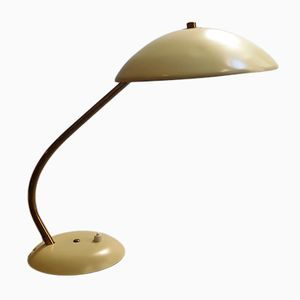 Vintage Desk Lamp with Brass Arm, 1960s