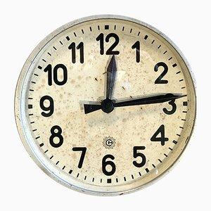 Reloj de pared industrial de Chronotechna, años 50