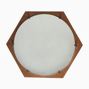 Specchio vintage esagonale di ISA Bergamo, anni '60
