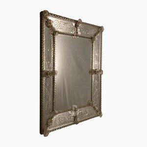 Specchio vintage in vetro di Murano, anni '30
